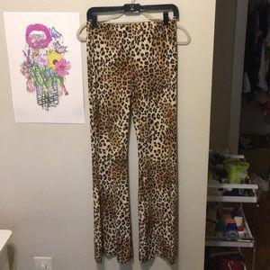 F21 Stretchy Cheetah Pants